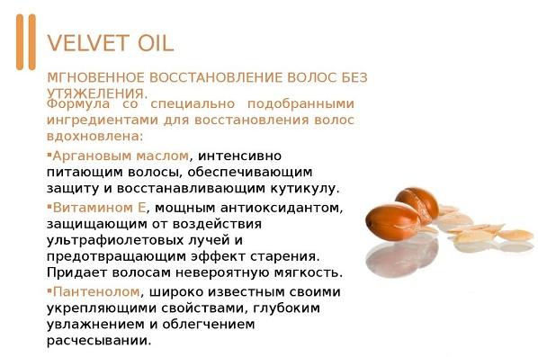 Лечебные составляющие масла для волос Лонда
